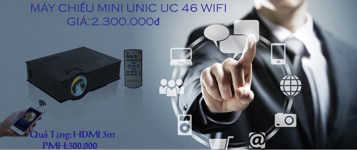 Máy chiếu Mini UC 46 Wifi