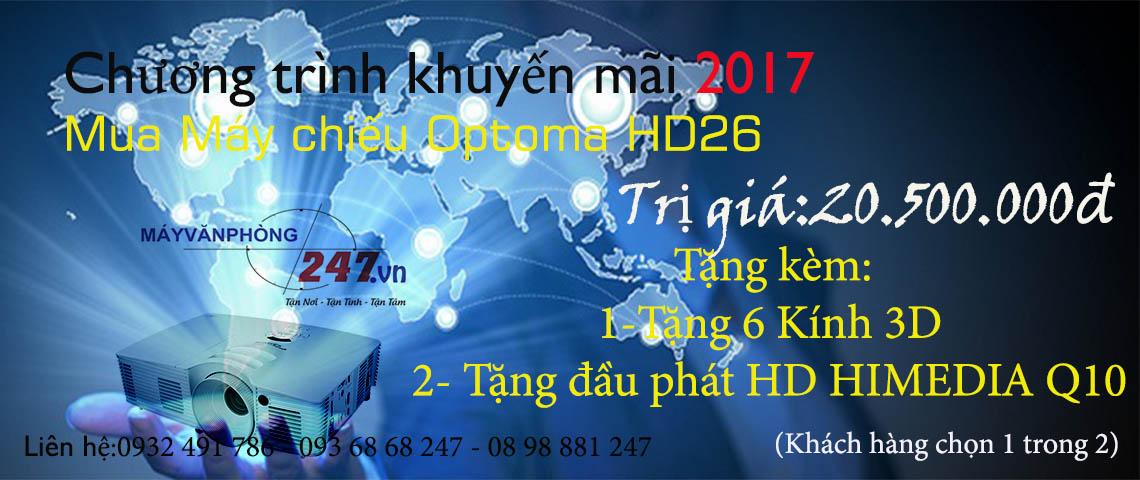 Khuyến mãi máy chiếu optoma hd26